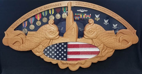 Submarine Warfare Insignia (SS)  Shadow Box