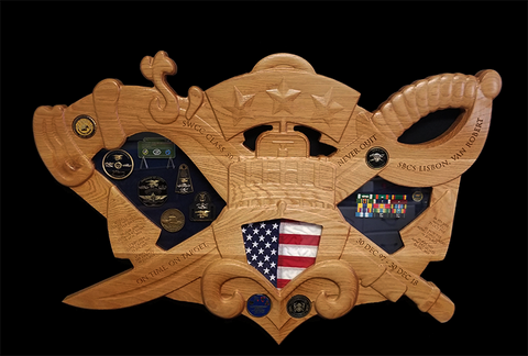 Special Warfare Combatant-Craft Crewman (SWCC) Shadow Box