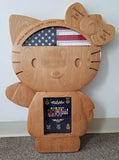 Military Kitty Shadow Box