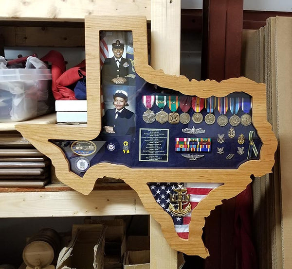 U S State Or Country Shaped Shadow Box K Amp W Projects Llc