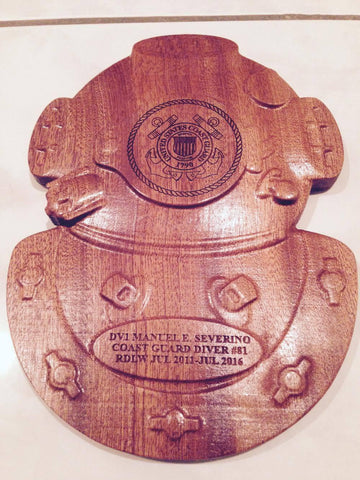 Dive Helmet Plaque