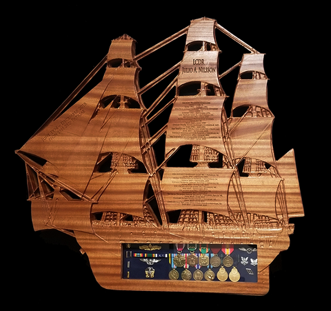 USS CONSTITUTION Shadow Box