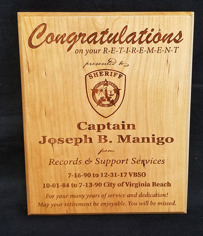 Beveled Edge Wooden Plaque 10inches X 12inches