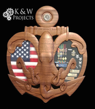Anchor with The Kraken Shadow Box