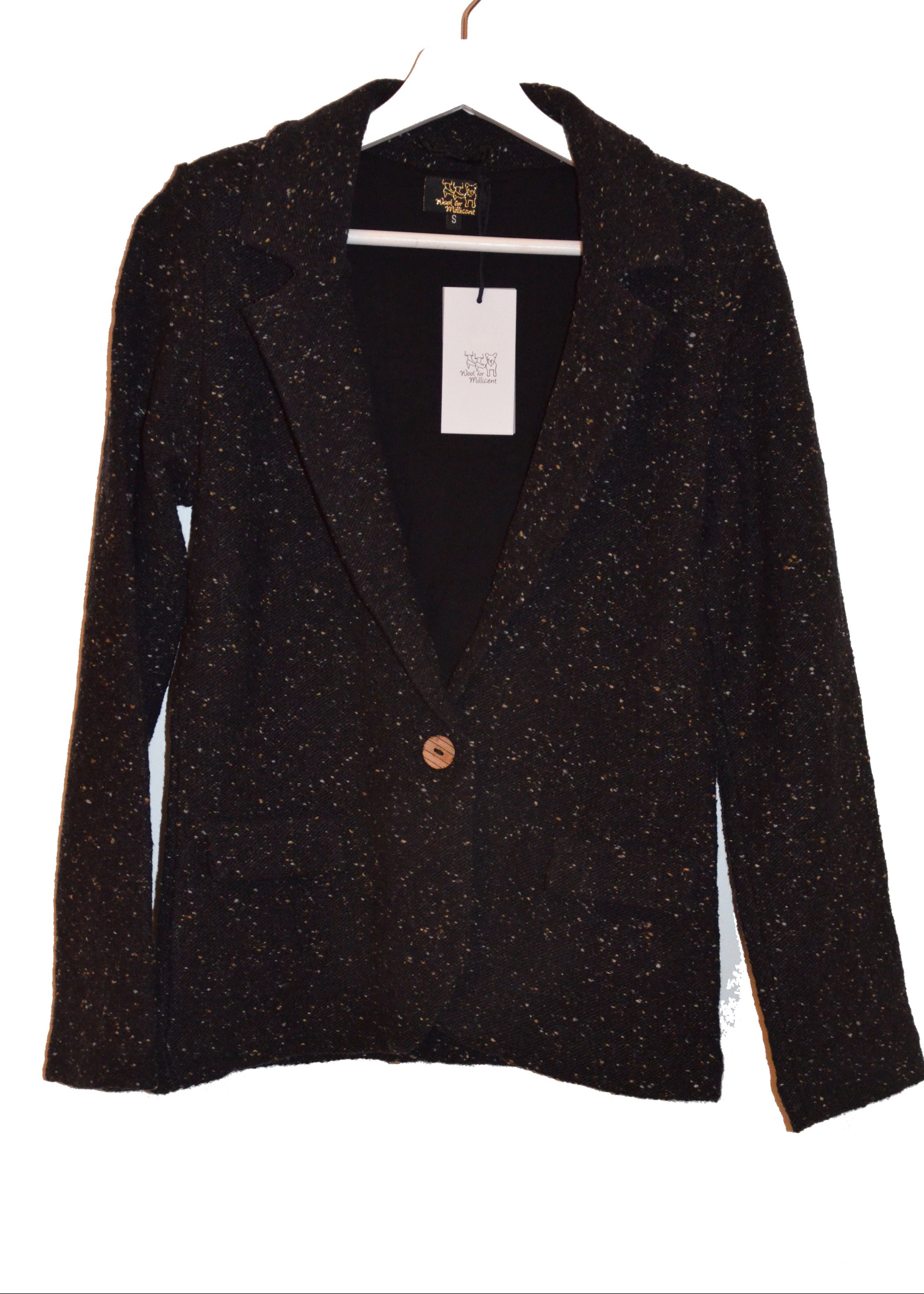 knitted blazer BLACK