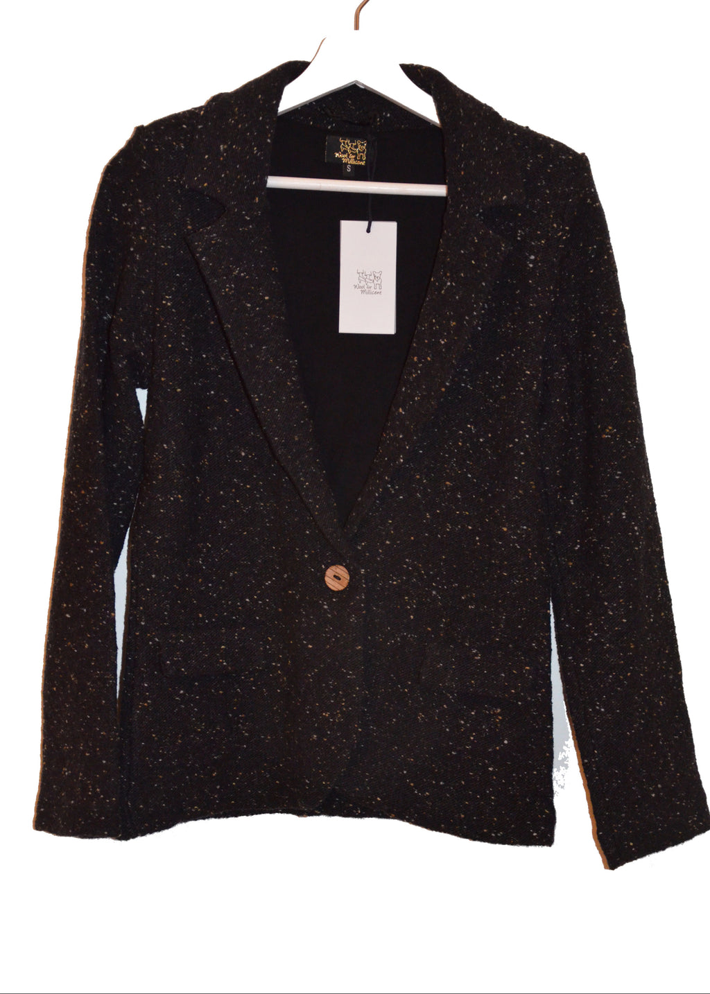 knitted blazer BLACK - #NEW ARRIVALS#