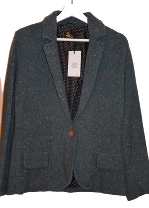knitted blazer GREEN