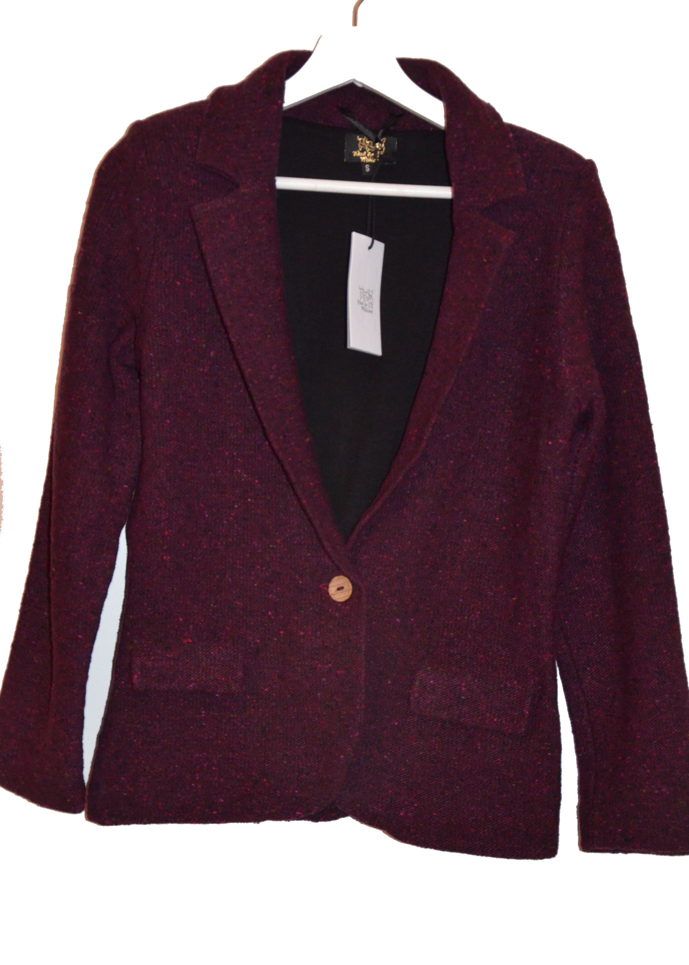knitted blazer DARK RED