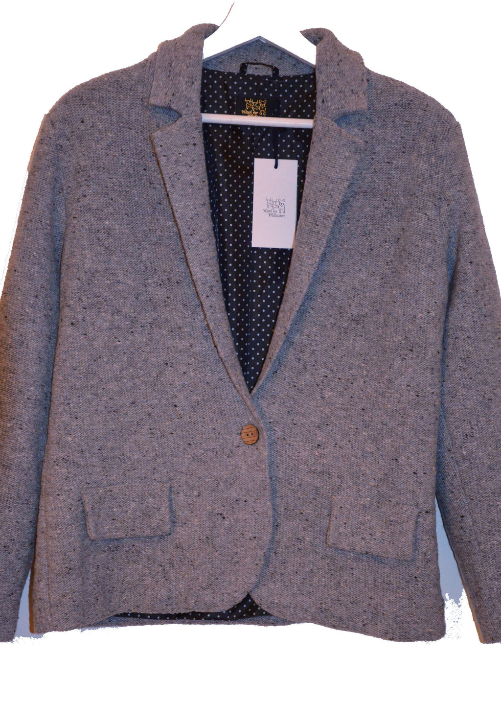 knitted blazer GREY