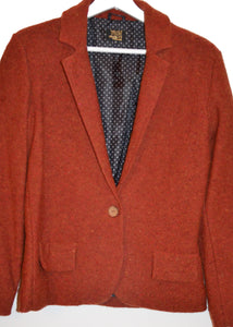 knitted blazer RED