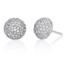 0.5 CTW Round Diamond Dome Earrings