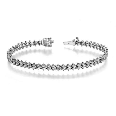 Arrow Diamond Bracelet in 14k White Gold