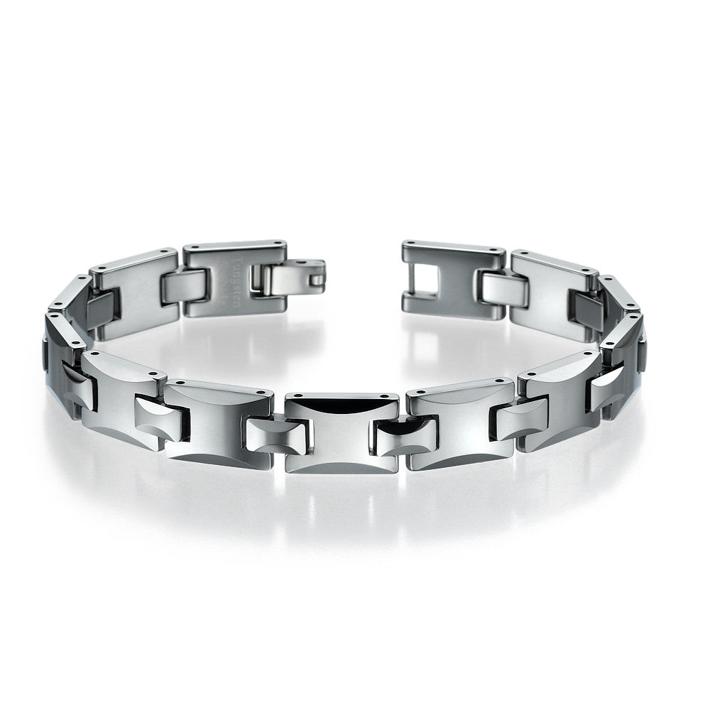 with mens for p links magnets polished and view piece tungsten bracelet men puzzle quick wide
