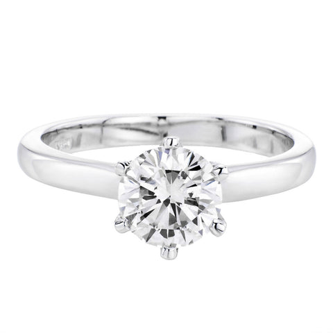 Rosebud Moissanite Ring
