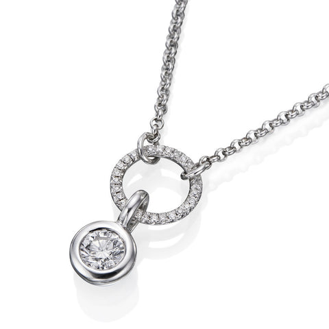 1/2 ct. Round Diamond Classic Pendant in 14k White Gold