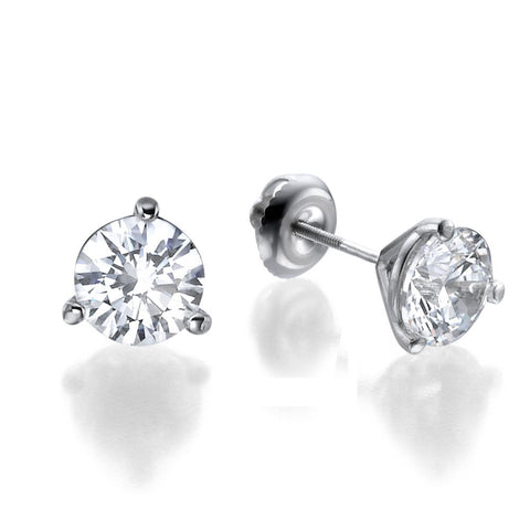 0.5-2 ctw Round Diamond Classic Stud Earrings