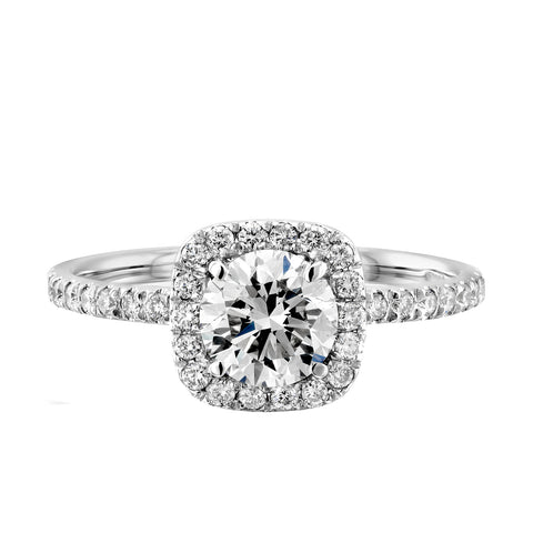 Halo Ten Charles & Colvard Moissanite Engagement Ring