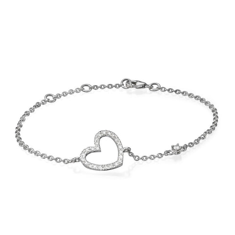 Heart' Diamond bracelet