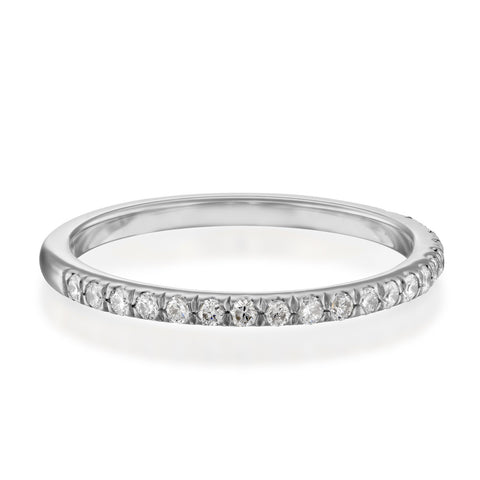 Updeck Matching Diamond Stackable Ring, 14k White Gold