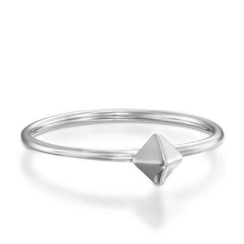 Spike Stackable Ring, 14k White Gold