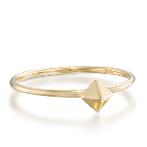 Spike Stackable Ring, 14k Yellow Gold