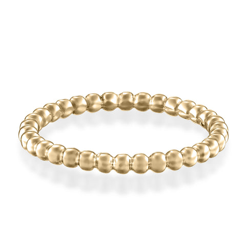 Round Spheres Stackable Ring, 14k Yellow Gold