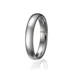 4mm Men's Plain Titanium Ring/ Wedding Band Sizes 9 to 13