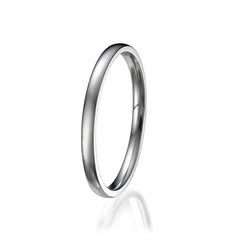 2mm Men's Plain Titanium Ring/ Wedding Band Sizes 9 to 13