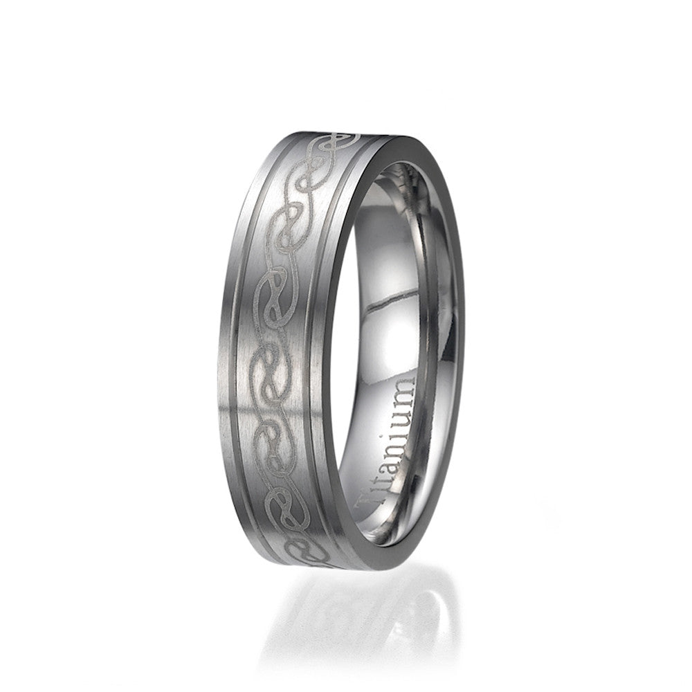 6mm Comfort Fit Unisex Titanium Wedding Band Ring Sizes 9 to 13