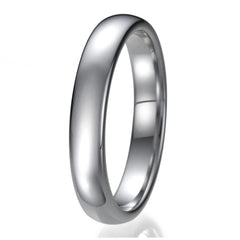 4mm Mens Comfort Fit Tungsten Plain Wedding Band Ring Sizes 9 to 13