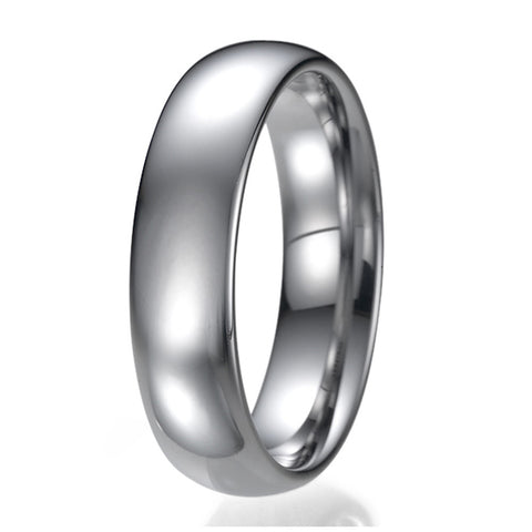 6mm Mens Comfort Fit Tungsten Plain Wedding Band Ring Sizes 9 to 13
