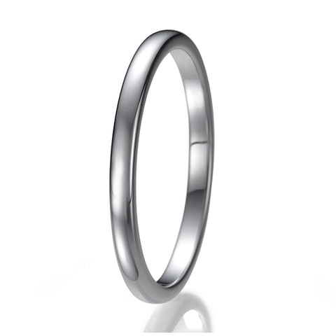 2mm High Polish Unisex Tungsten Wedding Ring Sizes 9 to 13