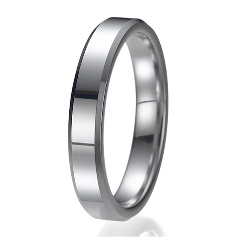 4mm Comfort Fit Unisex Tungsten Wedding Band Ring Sizes 9 to 13