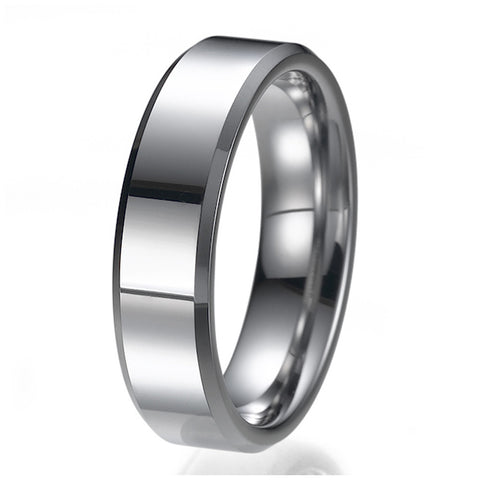 6mm Comfort Fit Unisex Tungsten Wedding Band Ring Sizes 9 to 13