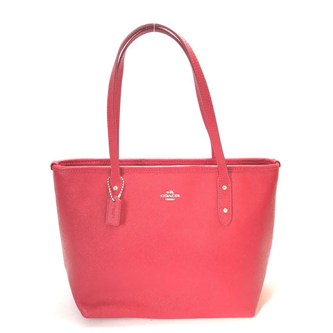 Coach red mini tote