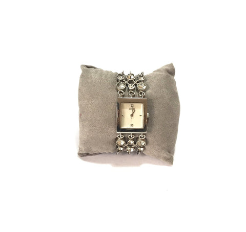 GUESS RHINESTONE STAINLESS STEEL BRACELET WATCH