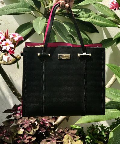 1-	Kate Spade 'Arbour Hill Small Elodie' Black Leather Bag