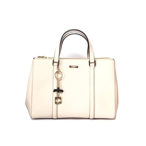 KATE SPADE CREAM LEATHER TOTE