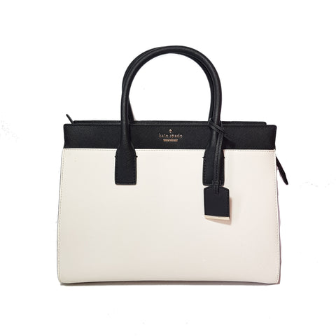 Kate Spade White, Black and Pink Leather Tote