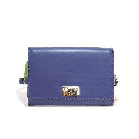 Kate Spade 'HARWOOD PLACE' BLUE LEATHER SHOULDER BAG