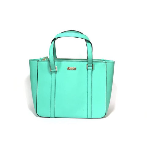KATE SPADE TEAL TEXTURED LEATHER SHOULDER BAG