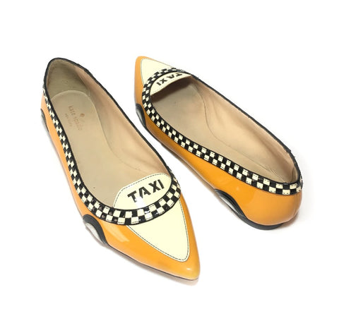 Kate Spade 'Go Taxi' Pointed Ballet Flats