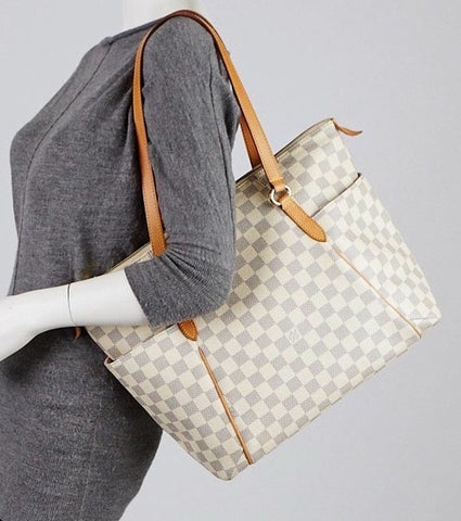 LOUIS VUITTON DAMIER AZUR TOTALLY MM SHOULDER BAG