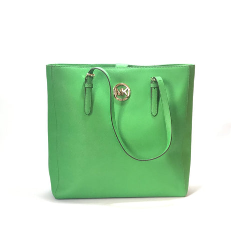 Michael Kors Green Leather Large Tote