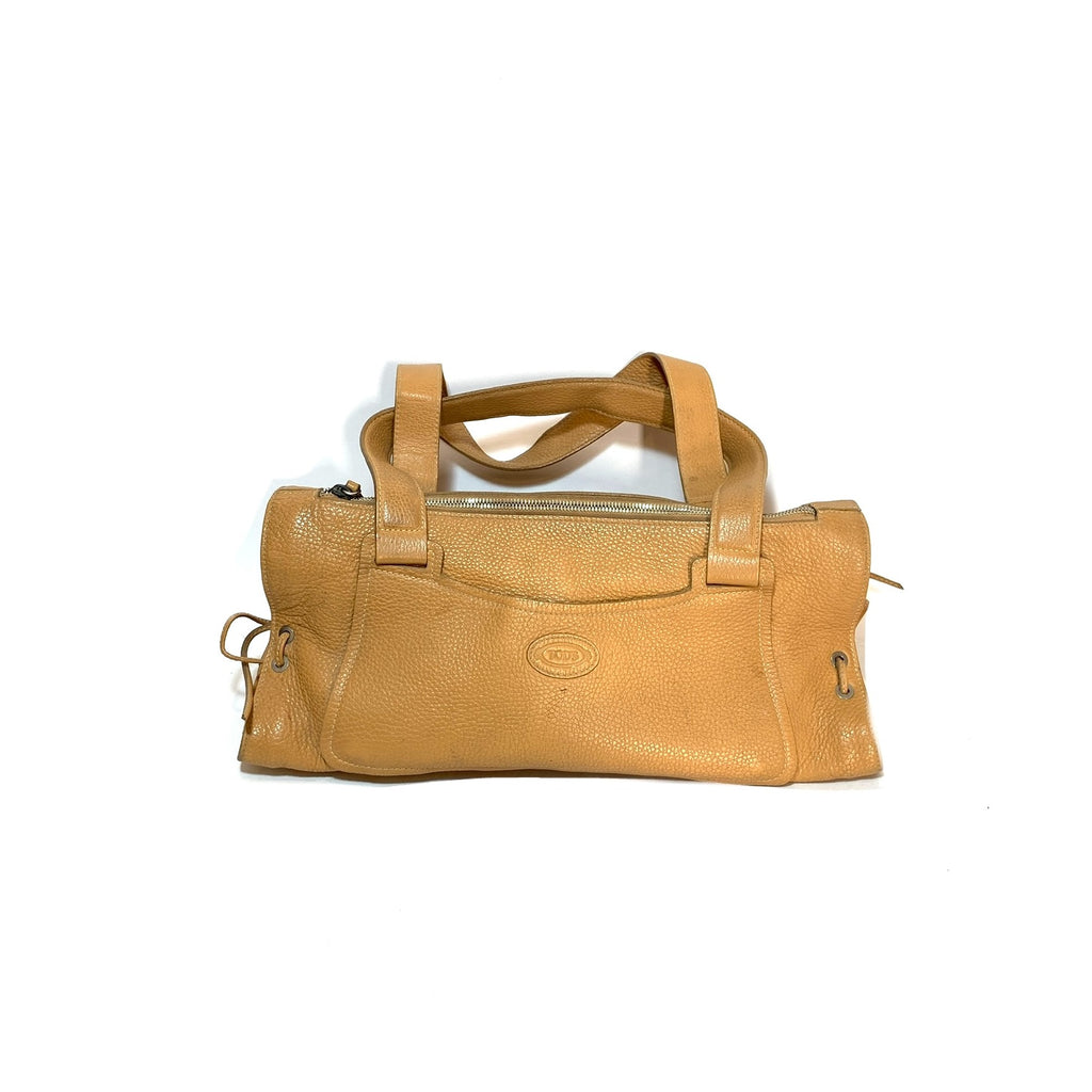 TOD'S Tan Pebbled Leather Tote | Pre Loved |