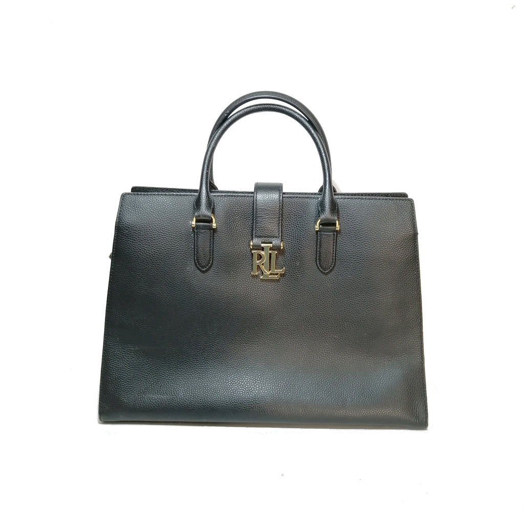 Lauren Ralph Lauren Black Large Satchel