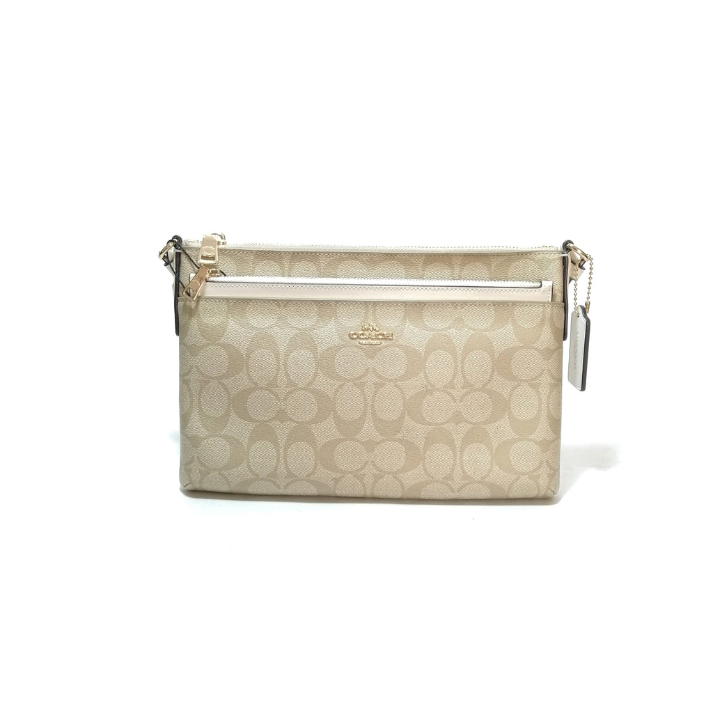 Coach Beige Monogram Cross Body Bag *new*