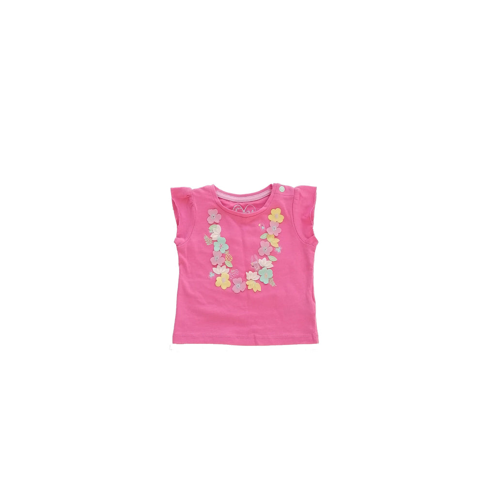 Mothercare Pink Floral T Shirt (3 - 6 months)