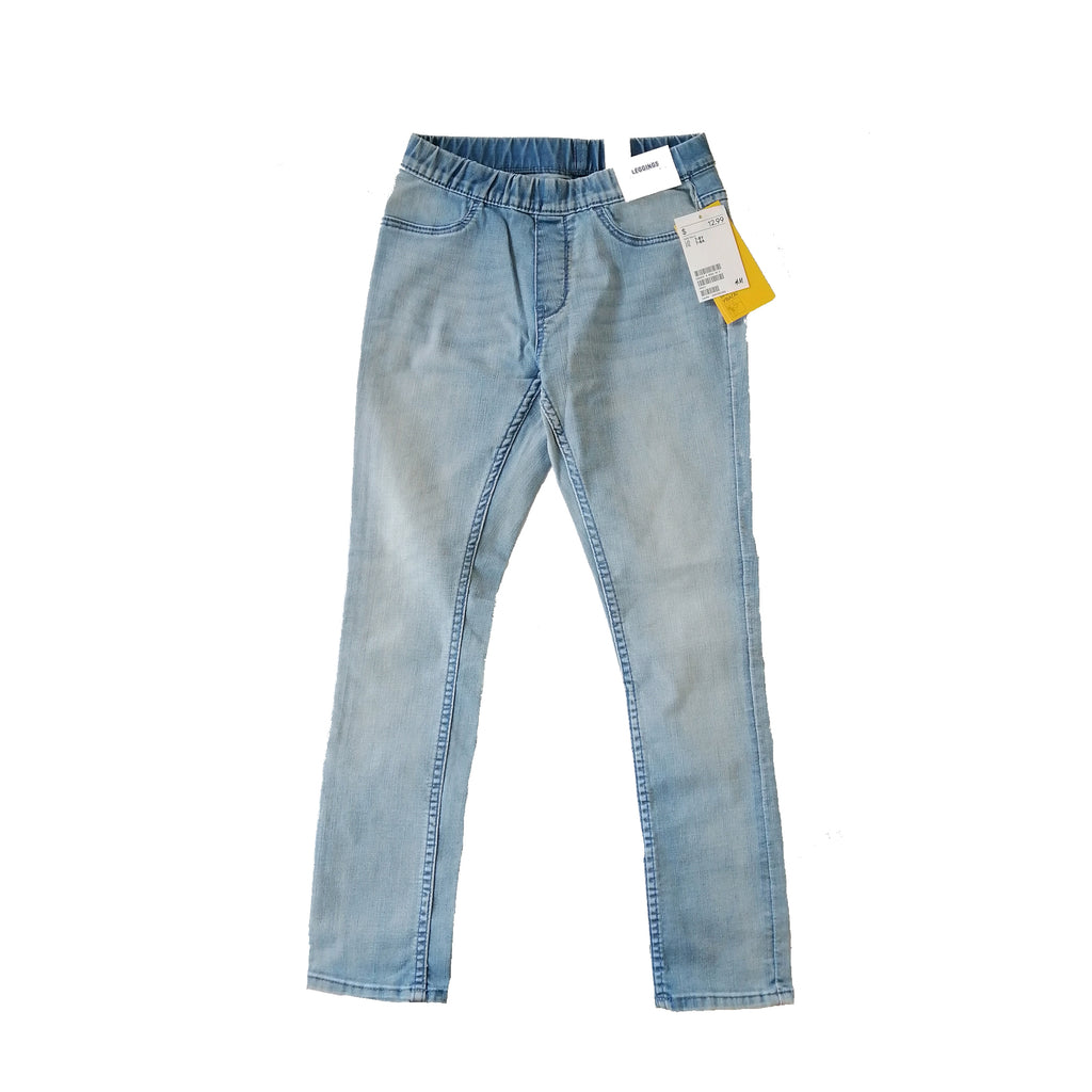 H&M Light Blue Jeggings (7 - 8 years)