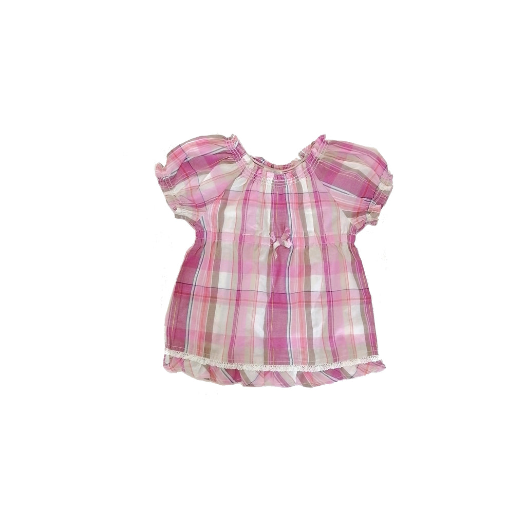 Children's Place Pink Checkered Top (3 years)